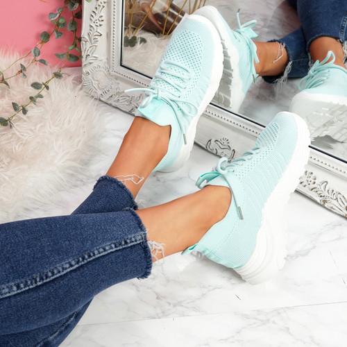 Leppe Green Running Sneakers