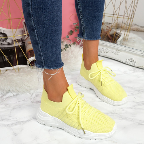 Leppe Yellow Running Sneakers