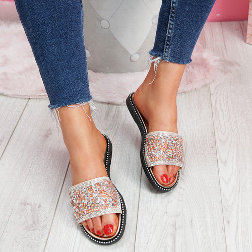 Henny Rose Diamante Studded Sandals