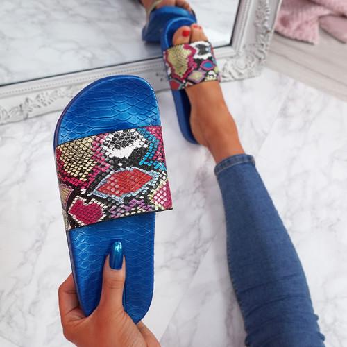 Jusso Blue Snake Sandals