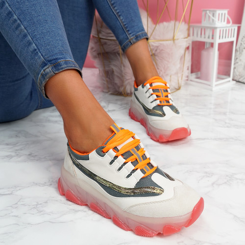 Luny White Chunky Sneakers