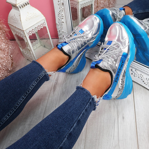 Lany Blue Chunky Trainers