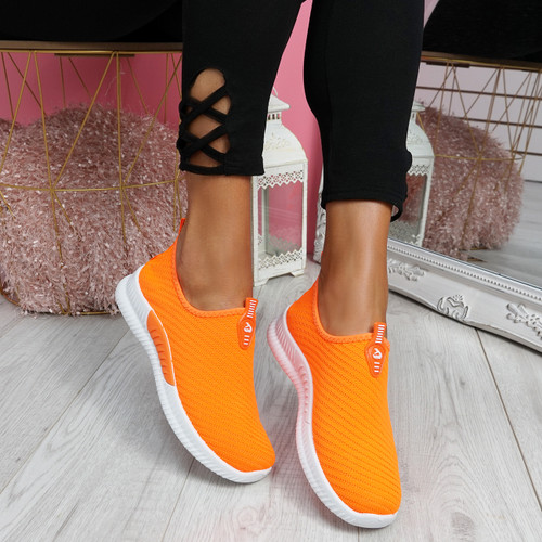 Derra Orange Slip On Sneakers