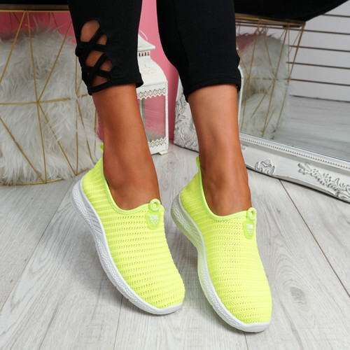 Cinny Green Knit Running Trainers