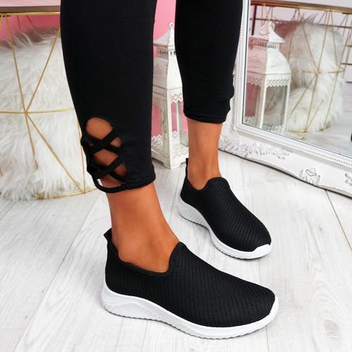 Lonnia Black Slip On Sneakers