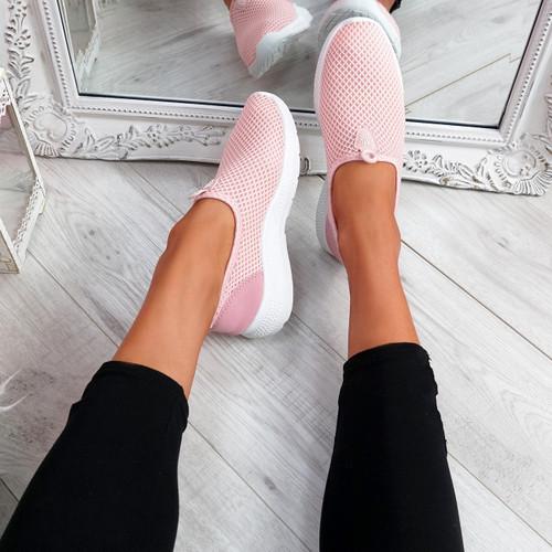 Onno Pink Slip On Running Sneakers