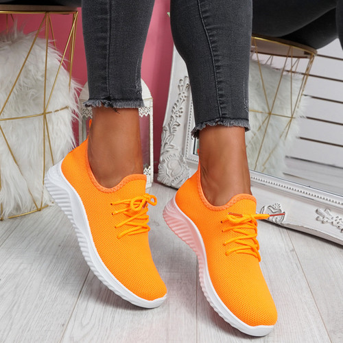 Loky Fluorescent Orange Running Trainers