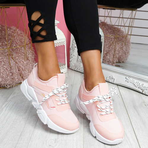 Rovy Pink Chunky Trainers