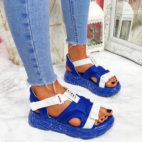 Salla Blue Chunky Sandals