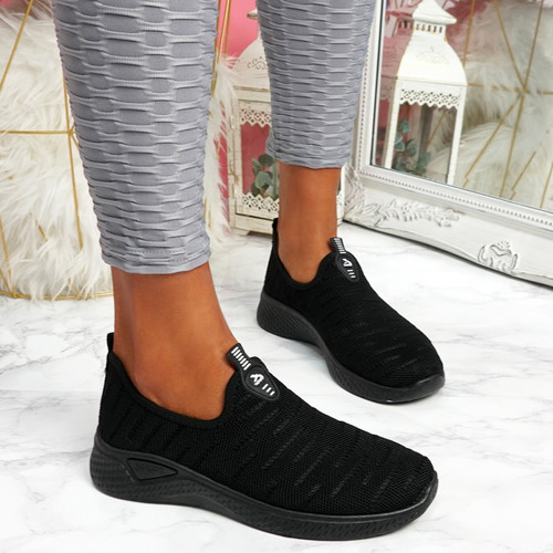 Monne Black Sport Trainers