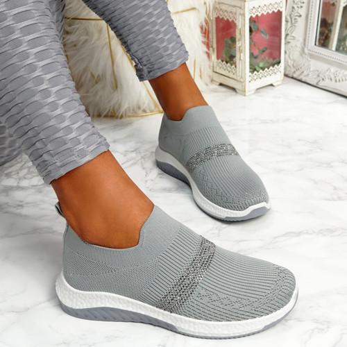Goppa Grey Studded Sneakers