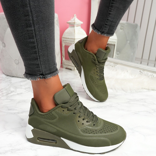 Geppy Khaki Fashion Trainers