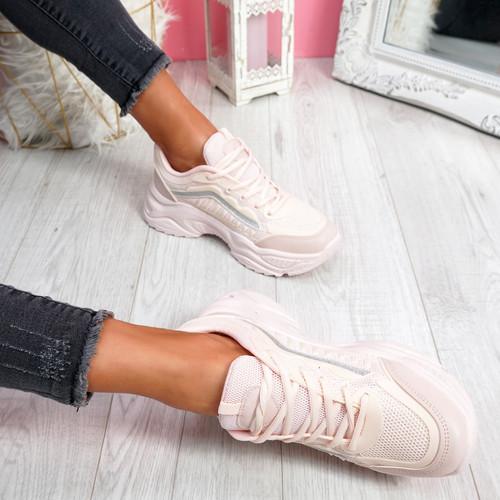 Kiffa Pink Chunky Trainers