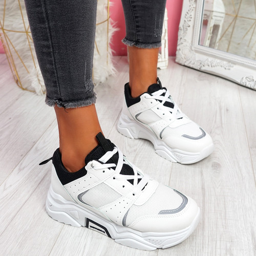 Linne White Chunky Trainers