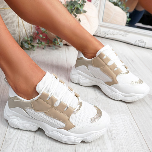 Lonne Gold Chunky Sneakers