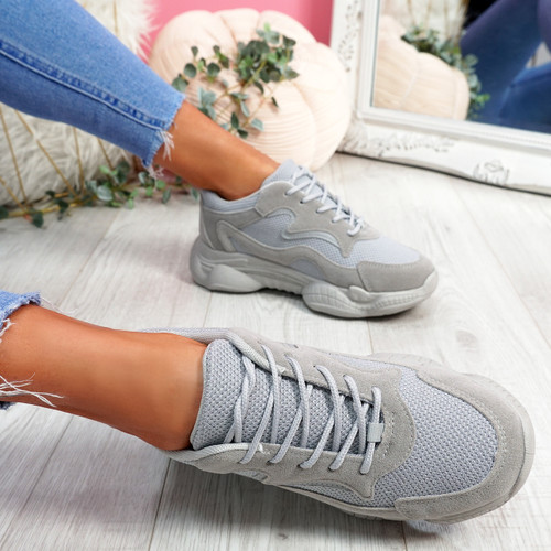 Hurra Grey Wide Fit Trainers