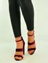 Burgundy Velvet Ankle Strap Peep Toe Sandals