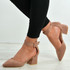 Cassidy Pink Ankle Strap Pointy Pumps