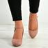 Aurora Pink Block Heel Pumps