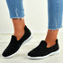 Danielle Black Studded Trainers