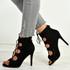 Madeline Black Stiletto Sandals