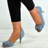 Presley Light Blue Bow Sandals