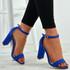 Madison Blue Block Heel Sandals