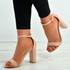 Madison Pink Block Heel Sandals