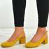 Aubrie Yellow Low Heel Pumps
