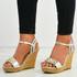Frida Silver Cork Wedge Platform Sandals