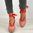 Rosa Red Ankle Wrap Pumps