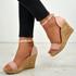 Amara Pink Wedge Sandals