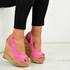 Allyson Hot Pink Sandals