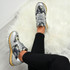 Alice Grey Floral Trainers