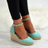 Harley Green / Turquoise Wedge Pumps