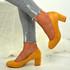 Kamari Yellow Mid Heel Pumps