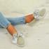 Asya Grey Bow Sneakers