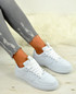 Jordin White Lace Up Trainers