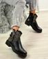 Amiya Black Studded Ankle Boots