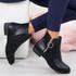 Amaya Black Zip Ankle Boots