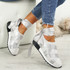 Loa Black Lycra Ankle Tie Trainers