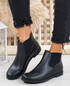 Lenna Black Pu Chelsea Ankle Boots