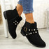 Mianna Black Zip Ankle Boots