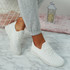 Sonia White Quilted Trainers