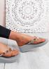 Marin Grey Rhinestone Sandals