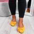 Sorra Yellow Bow Ballerinas