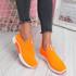 Kimmy Orange Slip On Trainers
