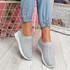 Kenny Light Grey Studded Sock Sneakers