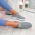 Vya Grey Studded Slip On Trainers