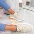 Tissa Beige Lace Up Trainers